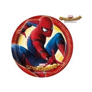 8 assiettes en carton - Spiderman Homecoming