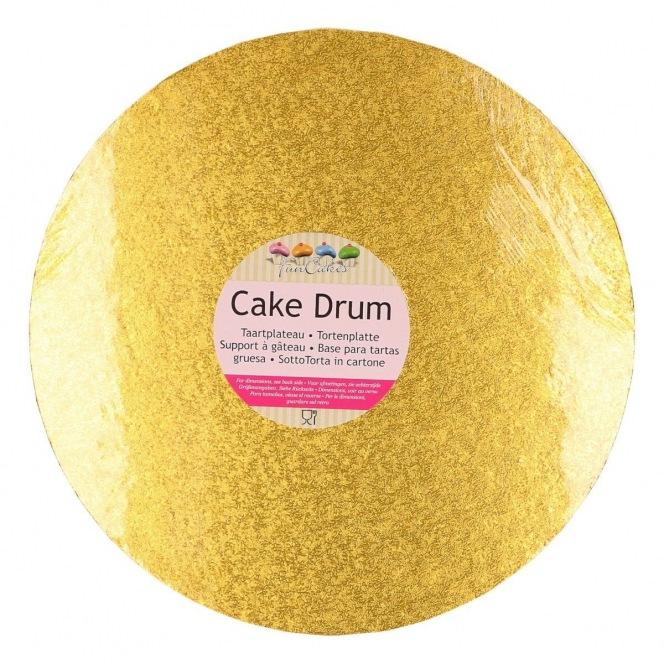 Drum Cake Round 30.5 cm gold - Funcakes