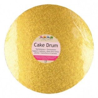 Support Rond Rond de Luxe 25 cm Doré - Funcakes