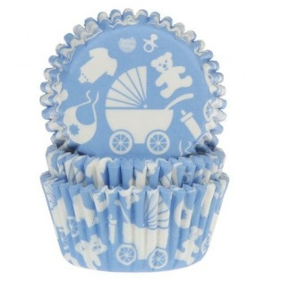 Baking Cups Baby Blue - 50 pieces - House of Marie