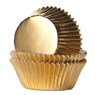 Baking Cups Foil Gold - 24 pieces - House of Marie