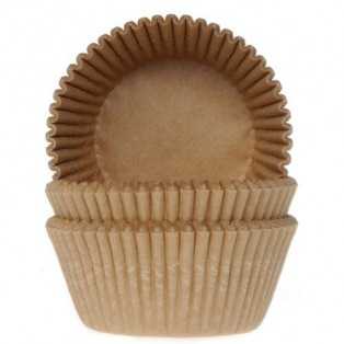Baking Cups brown craft - 50 pieces - House of Marie