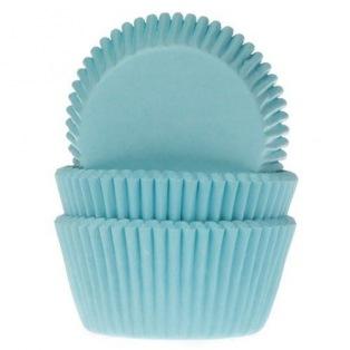 Caissettes à cupcakes Turquoise  50 pc HoM