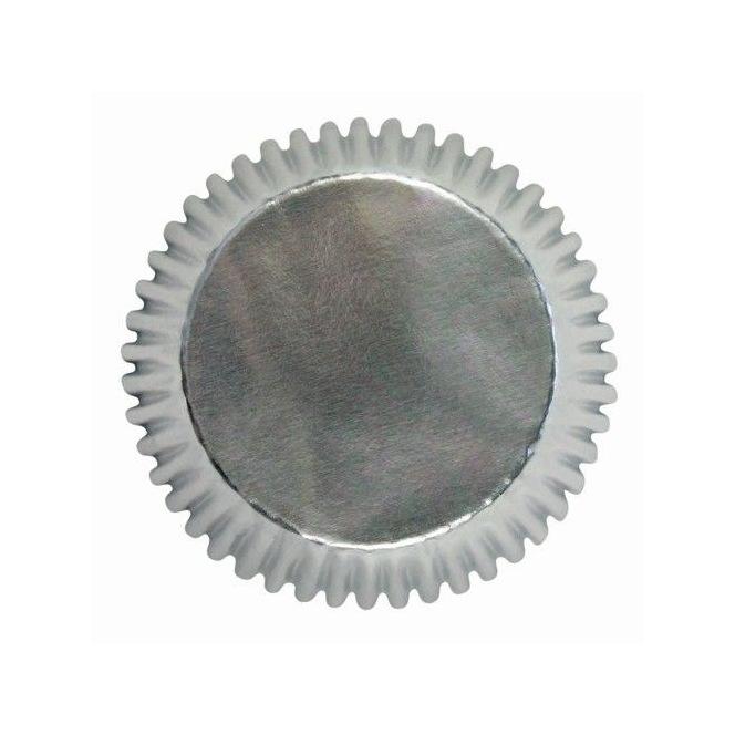 Caissettes à cupcakes - argenté - 30pc- PME
