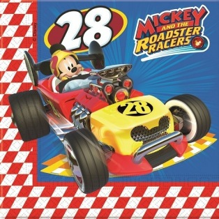 20 Napkins - Mickey Roadster Racers