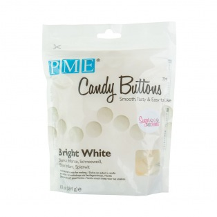 Candy Buttons - Blanc Eclatant - PME - 283g