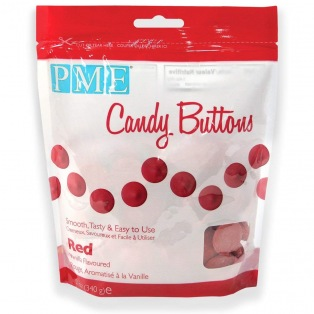 Candy Button - Red - PME - 340g