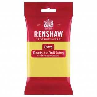 Renshaw Rolled Fondant Extra 250g - Pastel Yellow