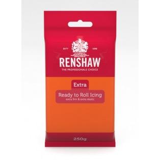 Renshaw Rolled Fondant Extra 250g - Orange Ready