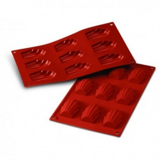 Silicone mold - 9 French Madeleines