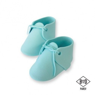 Edible Cake Topper Baby Bootee Blue - PME