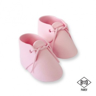 Edible Cake Topper Baby Bootee pink - PME