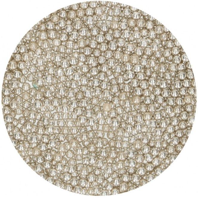 Perle métallique - argentées-  4mm