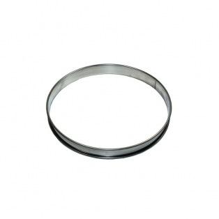Cercle à tarte en inox à bord roulés Ø14cm