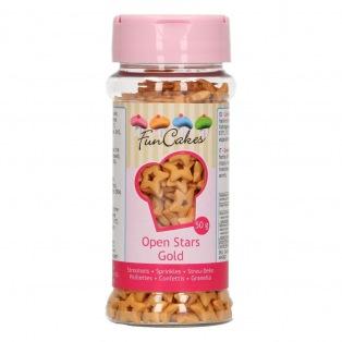 Étoiles Dorées Ouvertes 50 g Funcakes