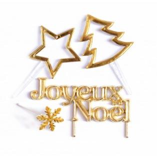 Décorations dorées de Noël