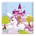 20 Napkins - Castle Unicorn