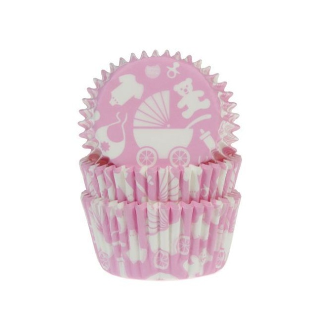 Caissettes Baby Pink - 50 baking cups - House of Marie