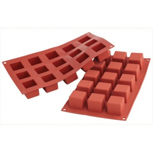 Silicone mold - 15 small cubes
