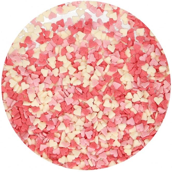 Mini coeurs - rose/blanc/rouge comestibles Funcakes 80g