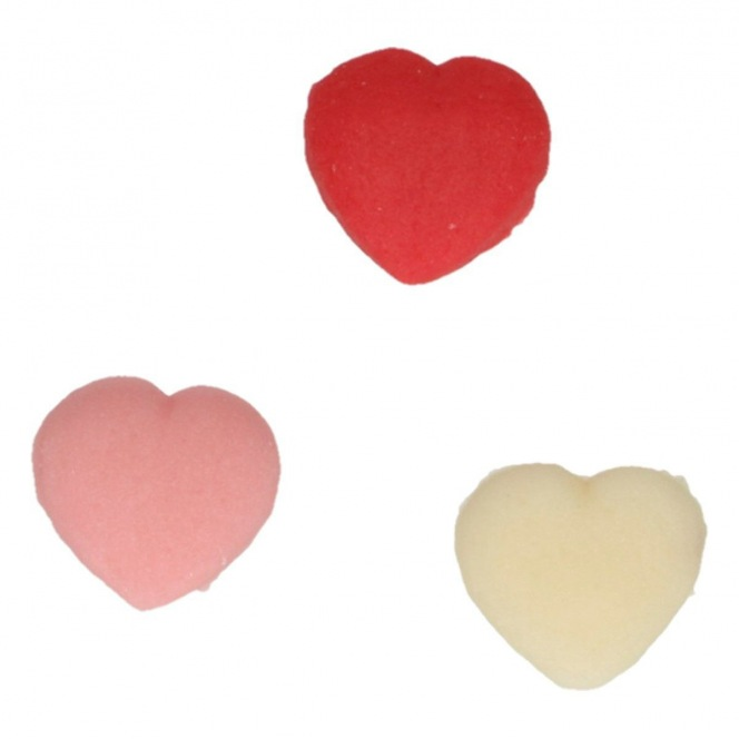 Marzipan Decorations Hearts  - 30pc - funcakes