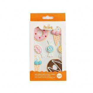 Sugar Decorations - Sweets - 7pcs - Decora