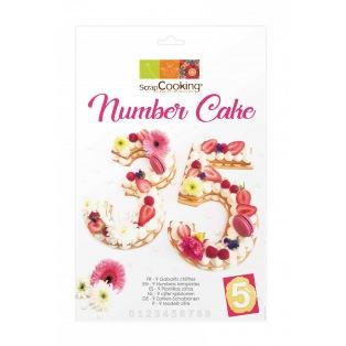 Kit gabarit number cake - Scrapcooking