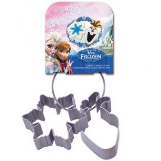 2 Metal Cookie Cutters -Frozen- Stor