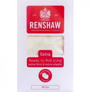 Pâte à sucre Extra 1kg - Blanc - Goût Marshmallow -Renshaw
