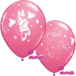 6 Ballons Minnie en latex
