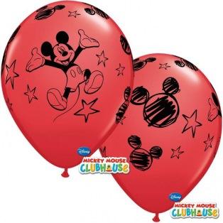6 Ballons Mickey en latex