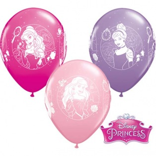 6 Princesses Balloons latex