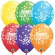 6 Birthday Balloons latex