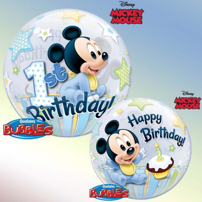 Balloon Bubble 1st year Mickey Mouse