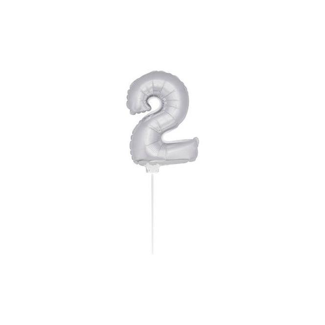 Mini Silver Balloon Number 2