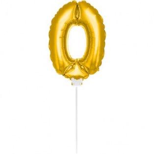 Mini Golden Balloon Number 0
