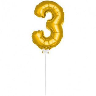 Mini Ballon Doré Chiffre 3
