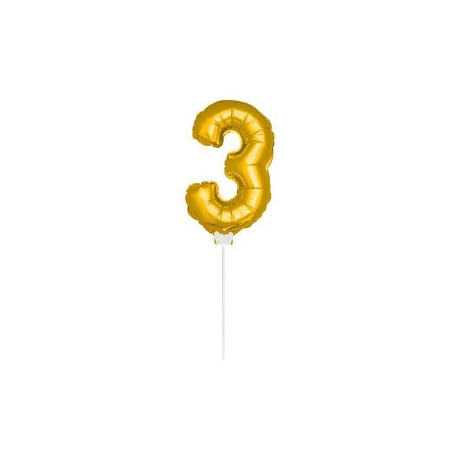 Mini Golden Balloon Number 3