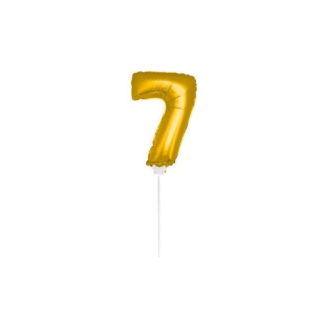 Mini Golden Balloon Number 7