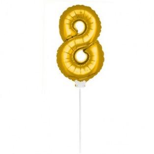 Mini Golden Balloon Number 8