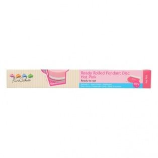 Rouleau de pâte à sucre étalée - Rose foncé (Hot Pink)  FunCakes