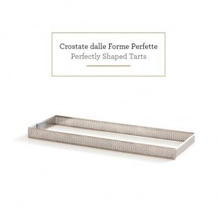 Decora - Rectangular Tart Ring  With Perforated edged 10 x 29 cm
