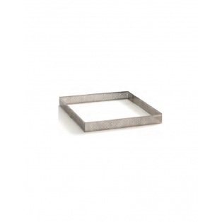 Decora - Square Tart Ring  With Perforated edged 20 cm h2cm