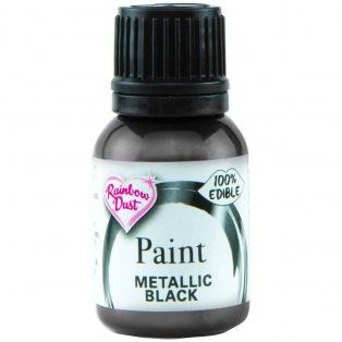 Peinture métallisée - Noir - Rainbow Dust