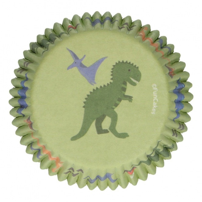 Baking Cups - Dinosaurs - 48pcs - Funcakes