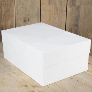 Boîte à gâteau rectangulaire blanche - 40x30x15cm - FunCakes