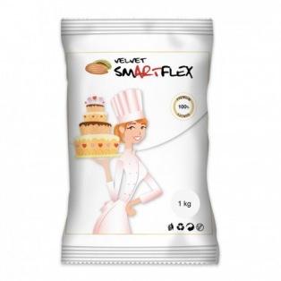 Pâte à sucre 1kg - Blanc (Velvet Vanille) - Smartflex