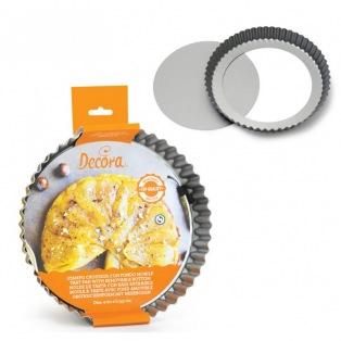 Moule à tarte avec fond amovible 30 cm - Decora