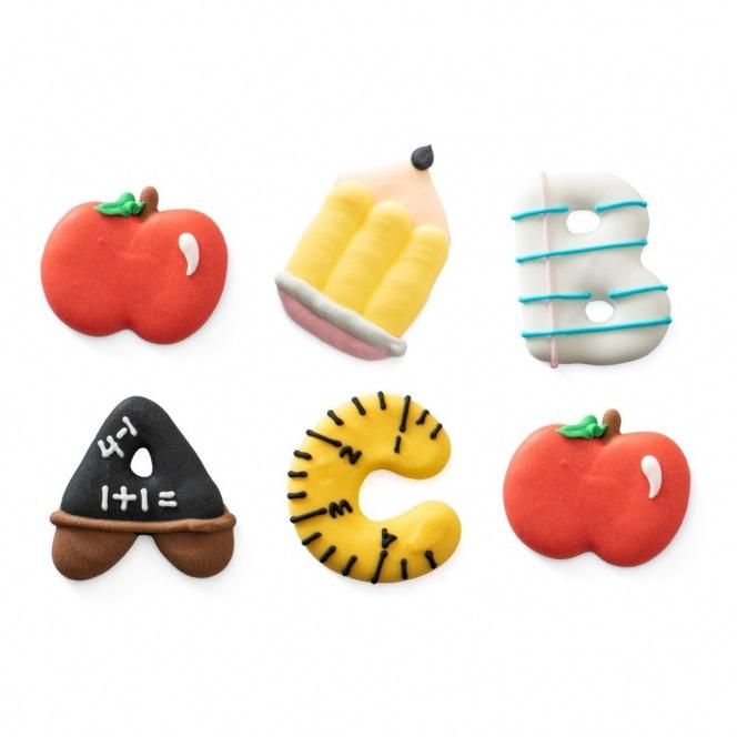 Sugar Decorations - Back to School - 6pcs - Decora