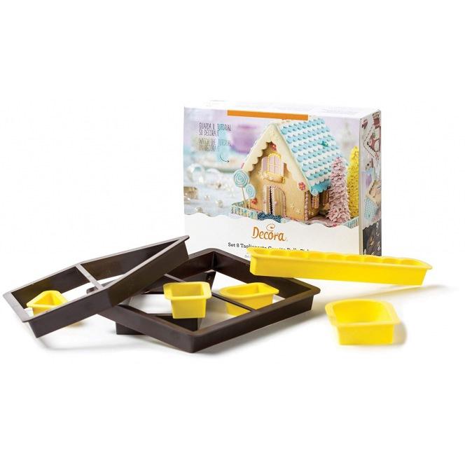 Gingerbread House Cutter Set - 8 pcs - Decora